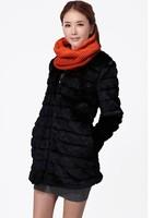 Free shipping Slim fur coat medium-long elegant long-sleeve fur overcoat outerwear women's faux fur coat