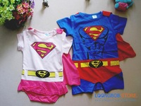 Baby girl and boy romper baby short sleepsuit with superwomen superman style 100% cotton