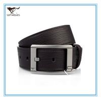 100% Genuine Leather Pin Buckle Strap  Free Size  Cowhide Split Leather Men Waist Trouser Belt Alloy Buckle 1.1-1.25M  7A1203800