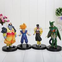 1set 4pcs/set Dragon ball z figures 34th Goku figure chidren toy Christmas gift