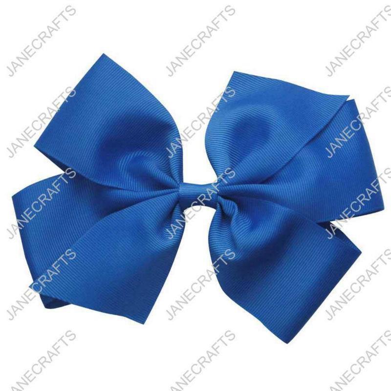"Large Baby/Girl/Toddler 6"" ROYAL Grosgrain Pinwheel Hair Bows Hairbows with Clip 12pcs Wholesale 6000018(China (Mainland))"
