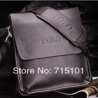 2014 New Brand POLO Genuine Leather Bags Mens Small Fashion Handbag polo Messenger Bag Shoulder Bags For Male Black Brown Bags