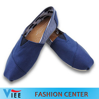 Free shipping Mix color Women's classic flats casual canvas shoes 2013 hot sale stripes and plain canvas Casual Shoes HC0003