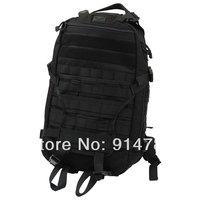 BATTLE HUNTER TACTICAL COMBAT MULTI-FUNCTION BLACK BACKPACK BAG CORDURA-33033