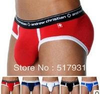 Free shipping 1PCS Andrew Christian Brand Underwear Sexy Men's Briefs  Men's underwear Wholesale/Retail AC22