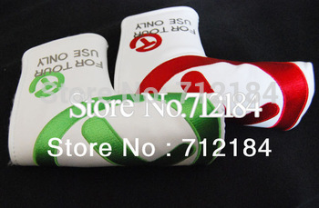 """2013 NEW Top Quality For Tour Use Only Golf Putter Cover White/Green""""or""""White/Red Color Golf Cover Free Shipping"""