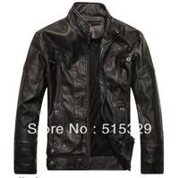 THOOO Brand pu leather jacket  coat  Faux Leather ew HOT GENTLEMEN'S classic fashion Slim Wholesale 8805 free shipping