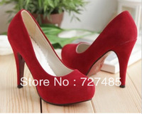 Plus Size Spring new shoes frosted princess super-high heels Women's Wedding shoes bridal shoes 33-43