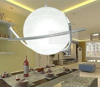 Modern round ball garland glass pendant lamp restaurant lamp lighting lamps bedroom lamp