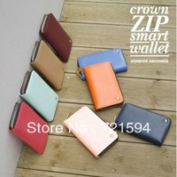 Free Shipping Long Candy Color PU Multi-function Mobile Phone Packages/Card Bag /Wallet