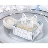 Wholesale free Shipping 12pcs/lot romantic snowflake shape Soap for Bath Body Wedding Gift scented decorative soap