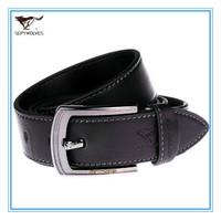 Hot China Brand Straps of Genuine Leather Men Pin Buckle Belt Cowskin Split Leather Men Black Waist  Belt Alloy Buckle 7A1202200