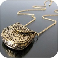 Wholesale! Vintage necklace fashion bags pendants exquisite sweater chain