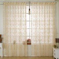 Fashion flock printing curtain shalian yarn all-match shalian free shipping 1.4m x 2.7m