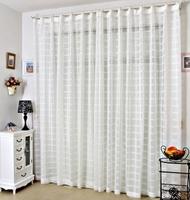 white curtain window screening  140cm x 270cm linen solid color flock printing shalian free shipping