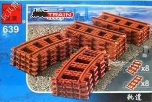Free shipping Enlighten 639 16pcs DIY plastic building block sets train series track bricks blocks eductional toys for children