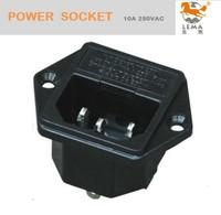 IPZ-4 manufacture 10A 250V ac power socket, 50pcs