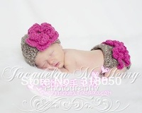 Fashion hot-selling baby hat knitted hat style set wool ball cap photography props set-0022