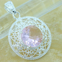 Christmas HP0518 ZITAI NEW ARRIVAL AMAZING PINK KUNZITE CUSHION CUT 44CT vintage jewelry silver 925 christmas gift pendants