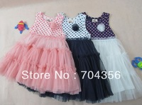 The new 2013 girls dress summer princess han edition dress han edition dress printed vest veil
