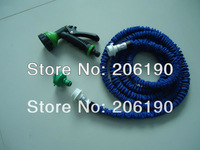 High quality  free shipping 50FT 100pcs/lot Expanding  Hose Magic hose, Garden water hose with Water Hose Gun Sprayer Nozzle