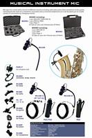 Musical Instrument Microphones Saxe Professional Musical  Instruments Microphone Unidirectional Trumpet Saxophone Mic Vocal Mics