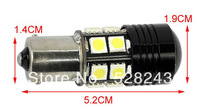 2013 hot selling 2pcs new 1156 BA15S 7W CREE Q5 Car SMD 5050 Wedge LED Reverse Lamp Light Bulb White Turn Tail Brake DC12V-30V