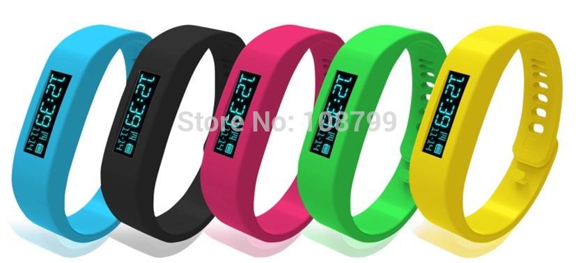 Pedometer Sleep Monitor Stopwatch Ultra-long standby time Bluetooth Bracelet Digital Watch&Call Alert Vibration Freeshipping(China (Mainland))