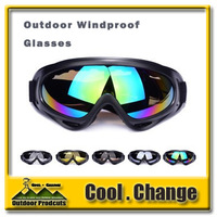 In stock X400 ski glasses&cycling goggles, PC, 100%UVA/UVB protection, ANSI Z87.1 strandard 5 Color