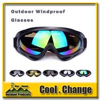 In stock X400 ski glasses&cycling goggles, PC, 100%UVA/UVB protection, ANSI Z87.1 strandard 5 Color