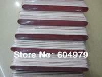 Wholesale / Free Shipping Nail Tool Wooden Thin Nail File,Emery board  16.8cm 100pcs/bag grit 180/240