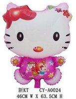 50pcs/bag Free shipping  Hot sales Hello kitty balloons , cartoon balloons ,mylar balloons 45X60cm,Gift Toy