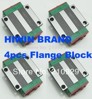 4pcs for HIWIN 20mm Linear rail guides HGW20CA  Flange block