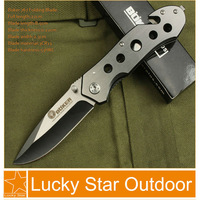 Boker Outdoor Tactical Survival Pocket Hunting Knife Hardened 53HRC 3Cr13 all steel handle camping knives