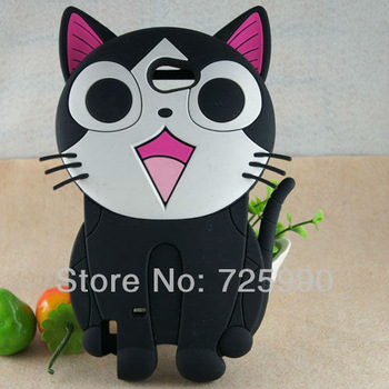 10pcs/lot 3D Cheese Cat silicone Cover Phone case For Samsung Galaxy Note2 NoteII N7100 Free Shipping