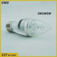 Wholesales (5pieces/lot)led Candle lights E27 3W4W5W AC85-265V White/Warm white led light Lamp Energy saving lamp Free Shipping