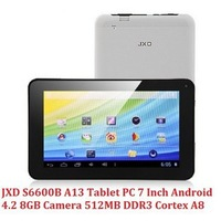 Singapore Post  Free shipping Factory price 7'' new arrival JXD S6600B Allwinner A13 Android 4.2  8GB tablet pc wifi camera