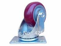 75mm Polyurethane Rubber Plastic Swivel Nylon Desk PU Polyurethane Caster Wheel 100kg