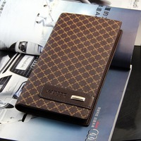 Classic Plaid Style  Mens Long Wallet Purse Clutch Cente Luxury /Elegant Organizer High quality Retail  Free shiping 280006