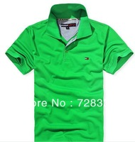 New half sleeve polos leisure fashion pure color T-shirt