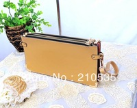 2013 new style envelope clutch shoulder bag with different color matching