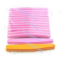Good Quality 100/180 grits  Diamond Style  Nail File Art Manicure Kits 10 Pcs/Lot  Sunshine Buffer (Assorted Colors)