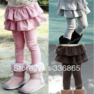 2013 spring all-match cake girls clothing child legging skirt trousers long trousers kz-0057(China (Mainland))