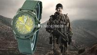 New 2014 Brand Quality Nylon Strap Military Watches Blue & Black & Green Color Army Pilot Men Sports quartz  Wristwatches