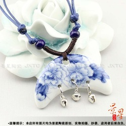 China Culture Lovers' Choice Ceramic Jewelry Accessories Lovers' Nacklace Made in Jingdezheng City(China (Mainland))