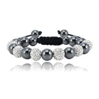 Cheapest Sales Promotion 10mm White  Shamballa Clay Disco Ball Beads Braid Signature Crystal Bracelets Mix Color Options