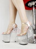 20cm high heel platform sexy sandals 8 inch heel Crystal platform Stage high-heeled shoes FREE SHIPING