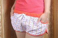 Free shipping 2013 Korean version of the printed cotton sports shorts, women shorts home beach pants pajama pants