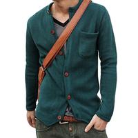 2014 Spring New Brand Wool Cardigan Sweater Men Men Slim Knit Sweater Coat Male Jumper M-XXL