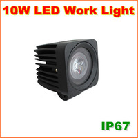 Free Shipping 10W CREE LED Work Light 12V 24V IP67 Flood Or Spot beam For 4WD 4x4 Off road Lamp TRUCK BOAT TRAIN BUS
